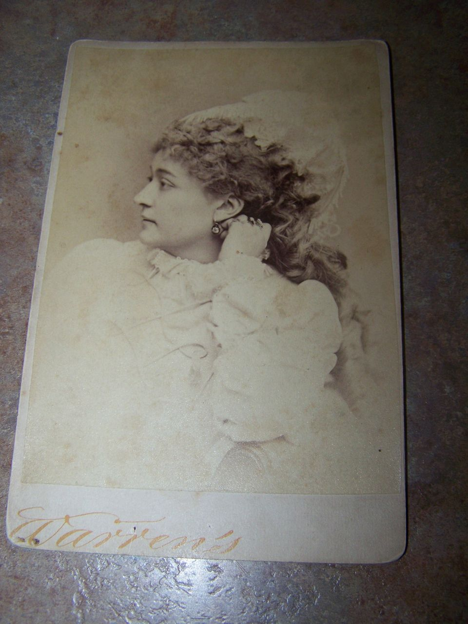 Vintage Photograph  Warren's Portraits Silent Movie Star Maud Granger