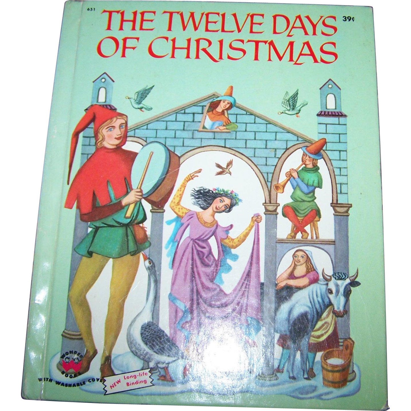 The Twelve Days Of Christmas Pictures by W.T. Mars Wonder Books 1956