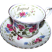 Flower of the Month Series Royal Albert Poppy  August Cup Teacup Saucer Set