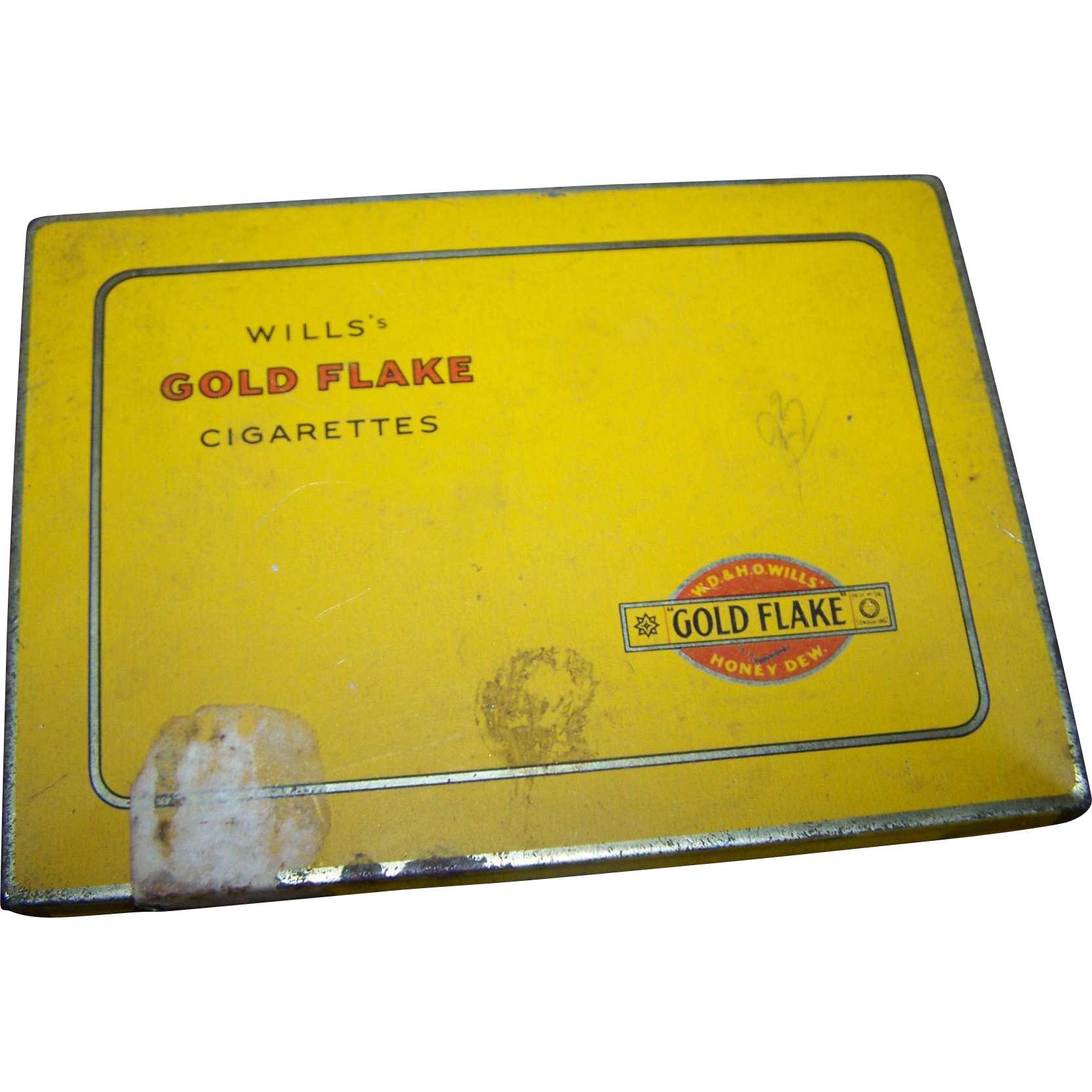 Vintage Advertising  Wills Gold Flake Cigarettes Tin Imperial Tobacco Company Canada