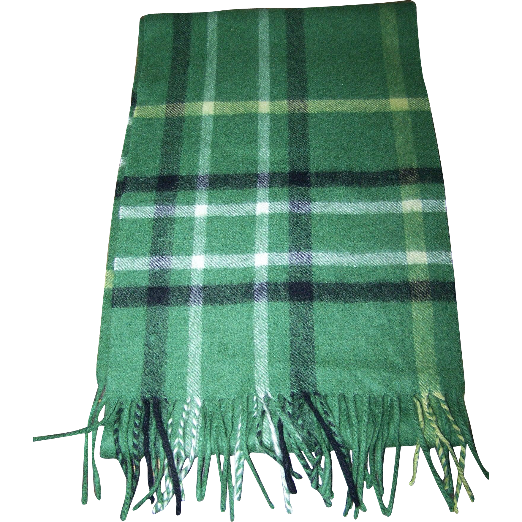 100 % Cashmere Plaid Fashion Scarf Lovely Quality