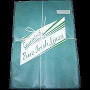 Old Hotel Stock Unopened Pure Damask Irish Linen Napkins Made in Northern Ireland