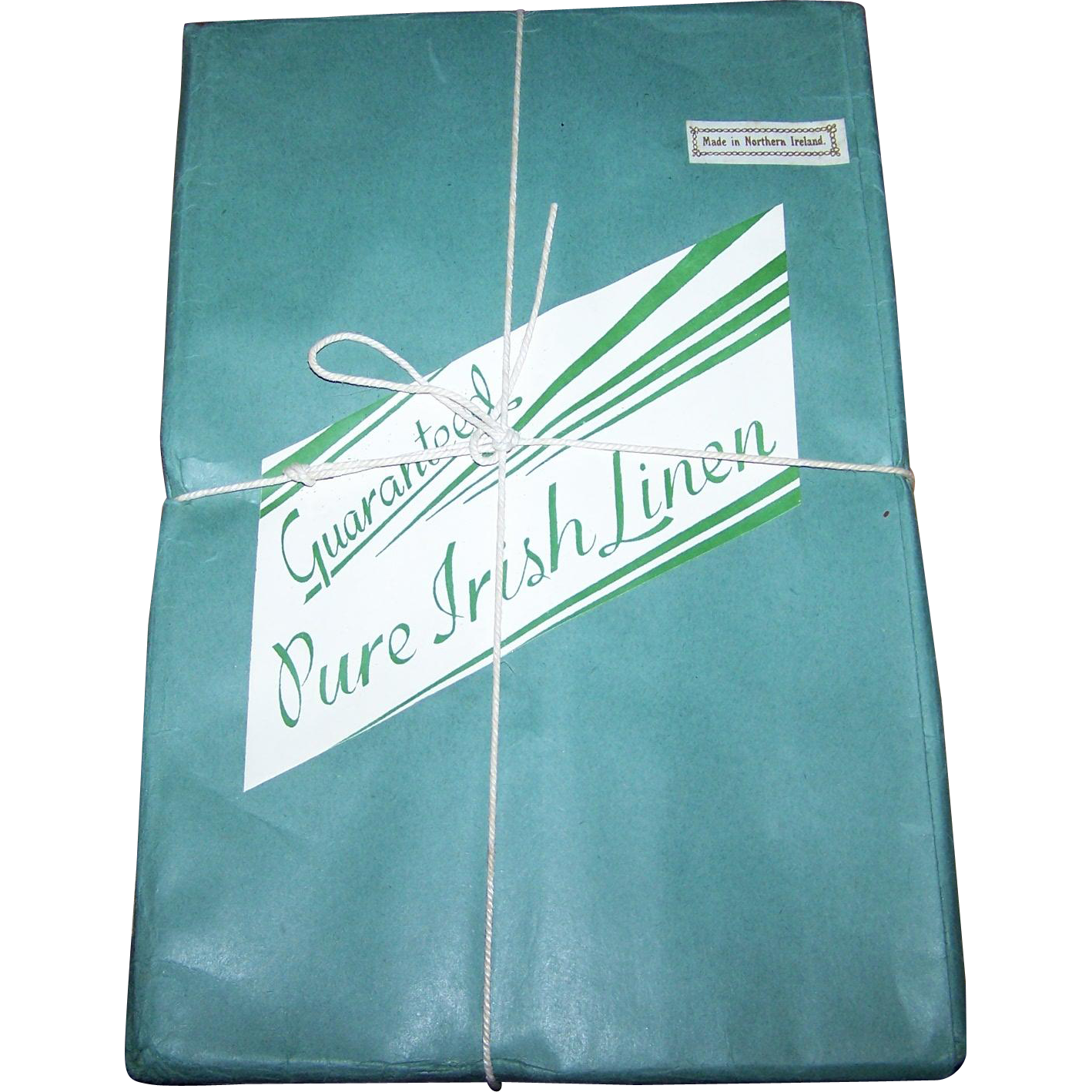 Old Hotel Stock Unopened Pure Damask Irish Linen Napkins Made in Northern Ireland