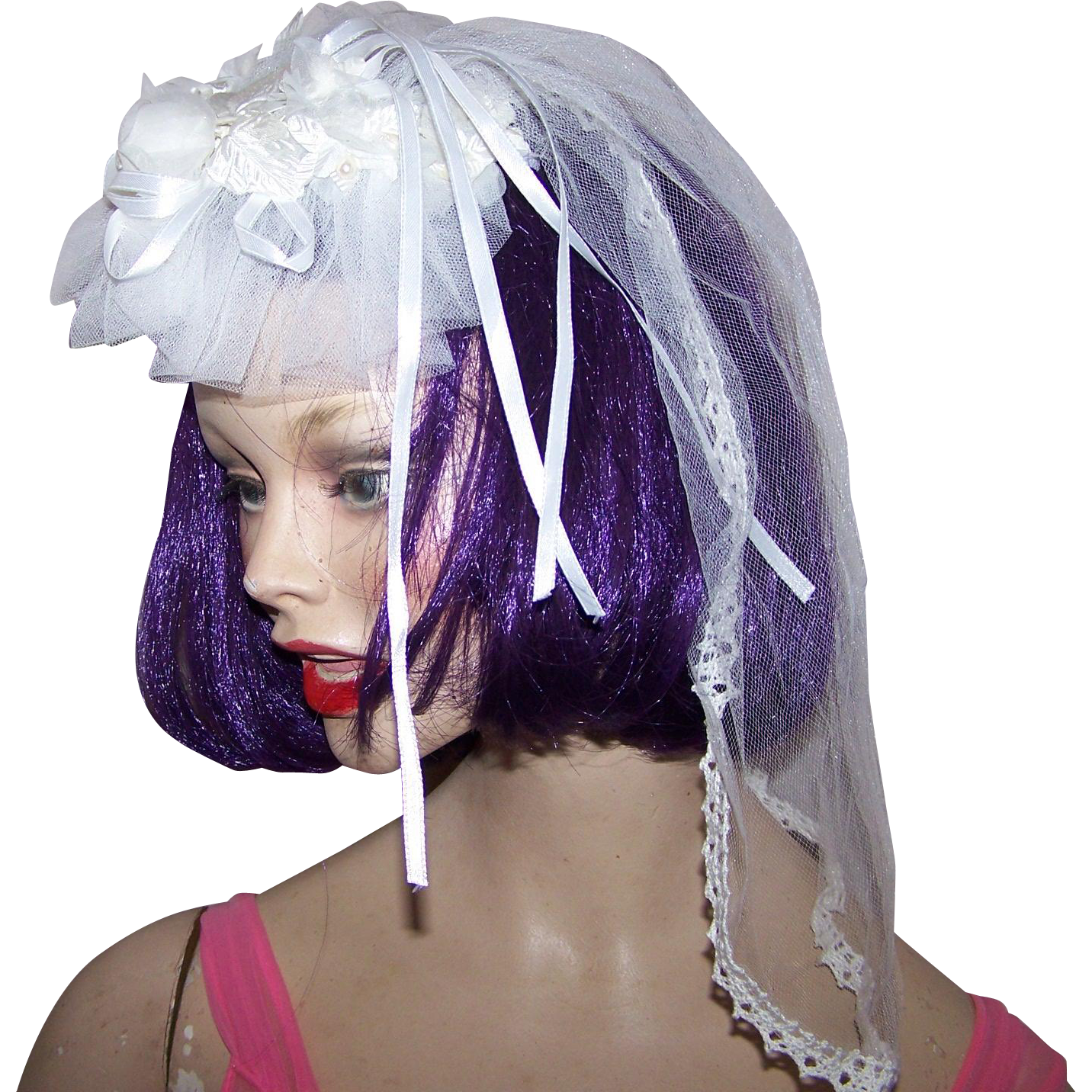 Bridal Head Piece Wedding Special Event Fascinator Hair Decoration Holy  Communion Veil