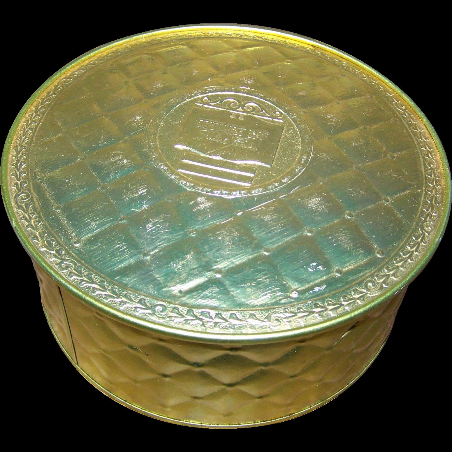 Mid-Century  Advertising Golden Fruit Cake Tin Guildcraft New York USA