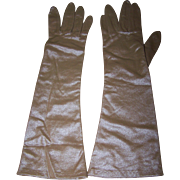 Made in West Germany Ladies Brown Long Style Fashion Gloves For That Special Occasion