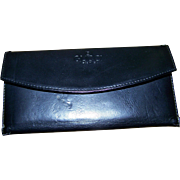 Genty Used Vintage Black Leather Designer GUCCI Ladies Fashion Wallet