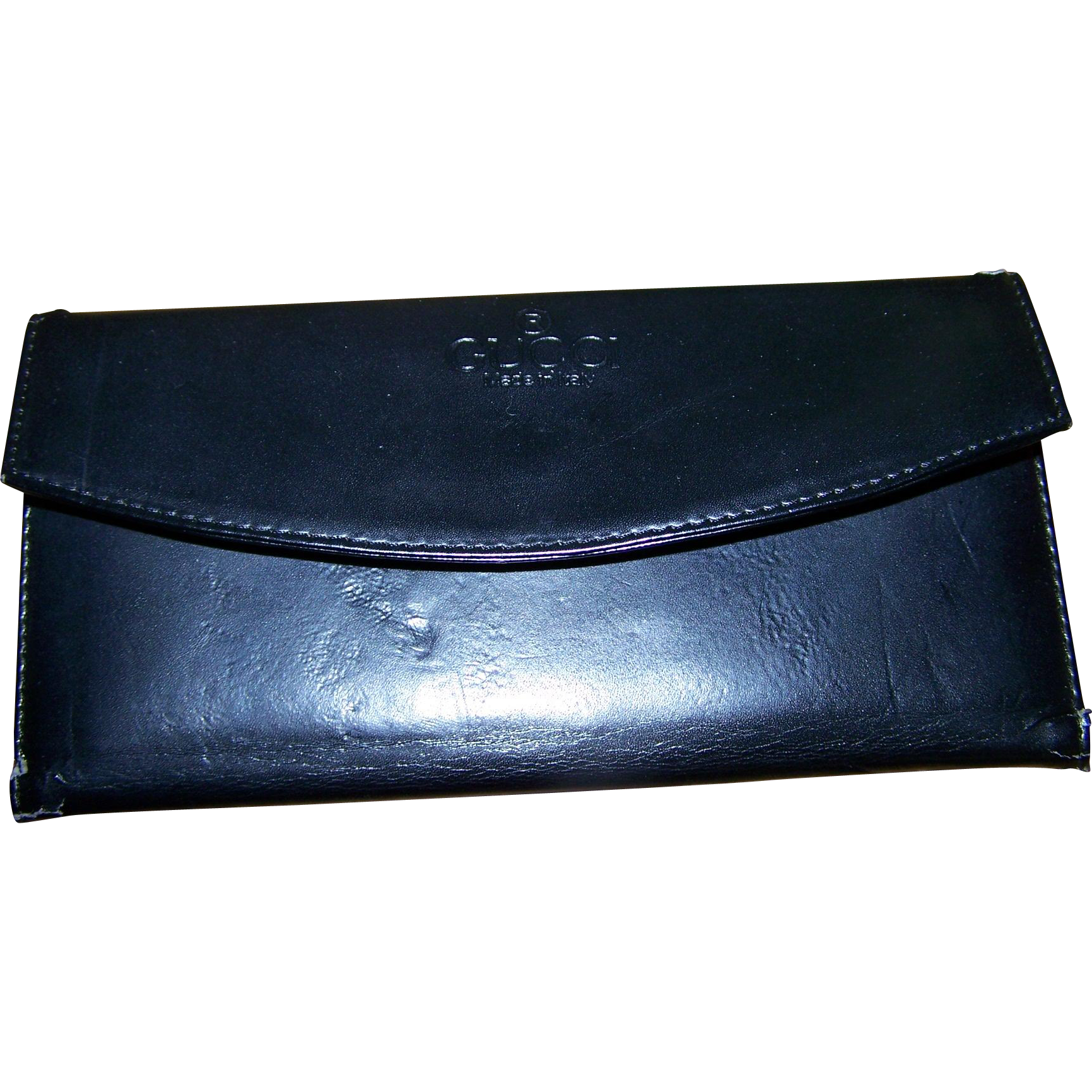 Genty USed Vintage Black Leather Designer GUCCI Ladies Fashion Wallet