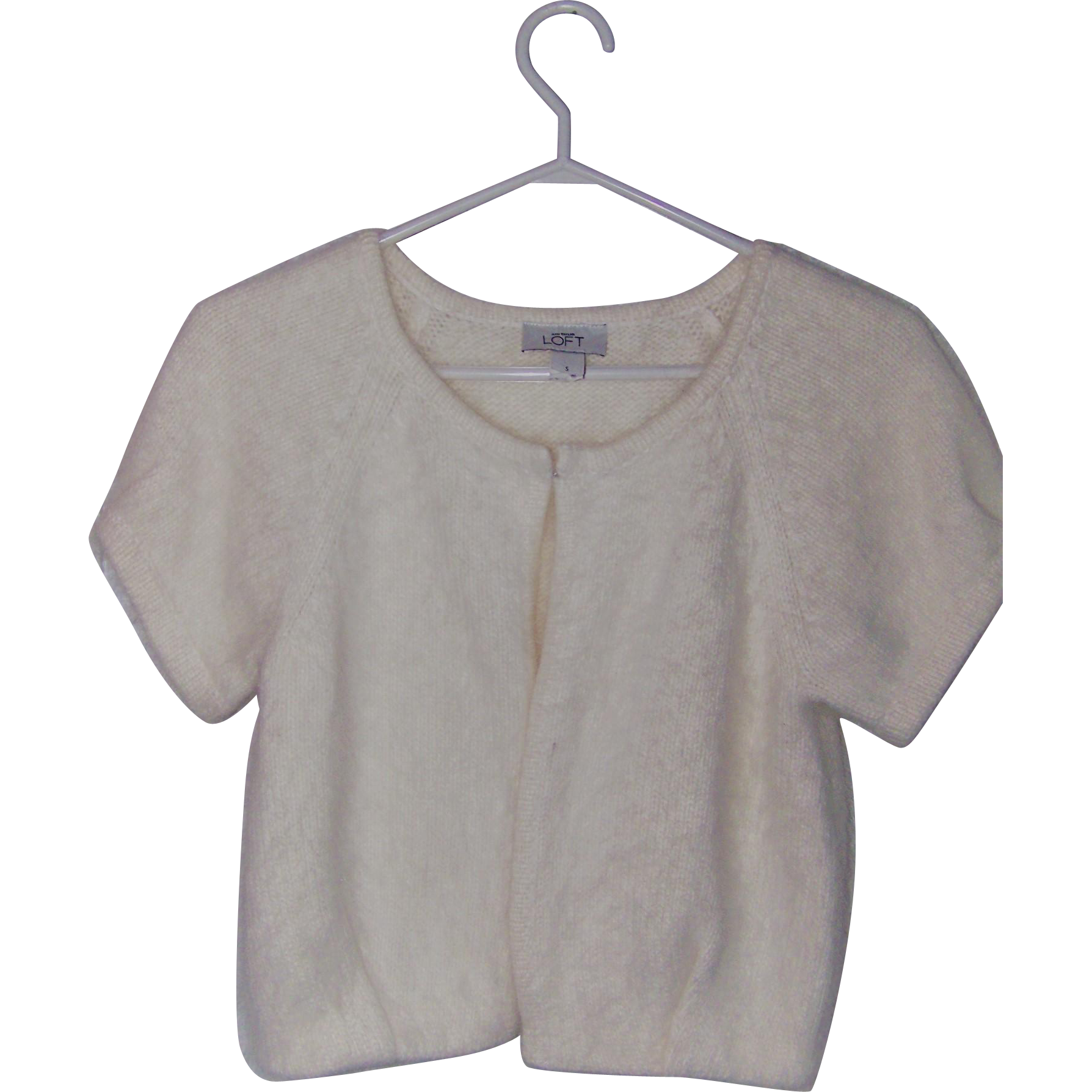 Oh So Pretty And Soft Rabbit Fur & Wool Ladies Small  Angora Style Top or Sweater Ann Taylor LOFT