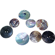 Lot 8 of Beautiful Vintage MOP Abalone Shell  Fashion Buttons
