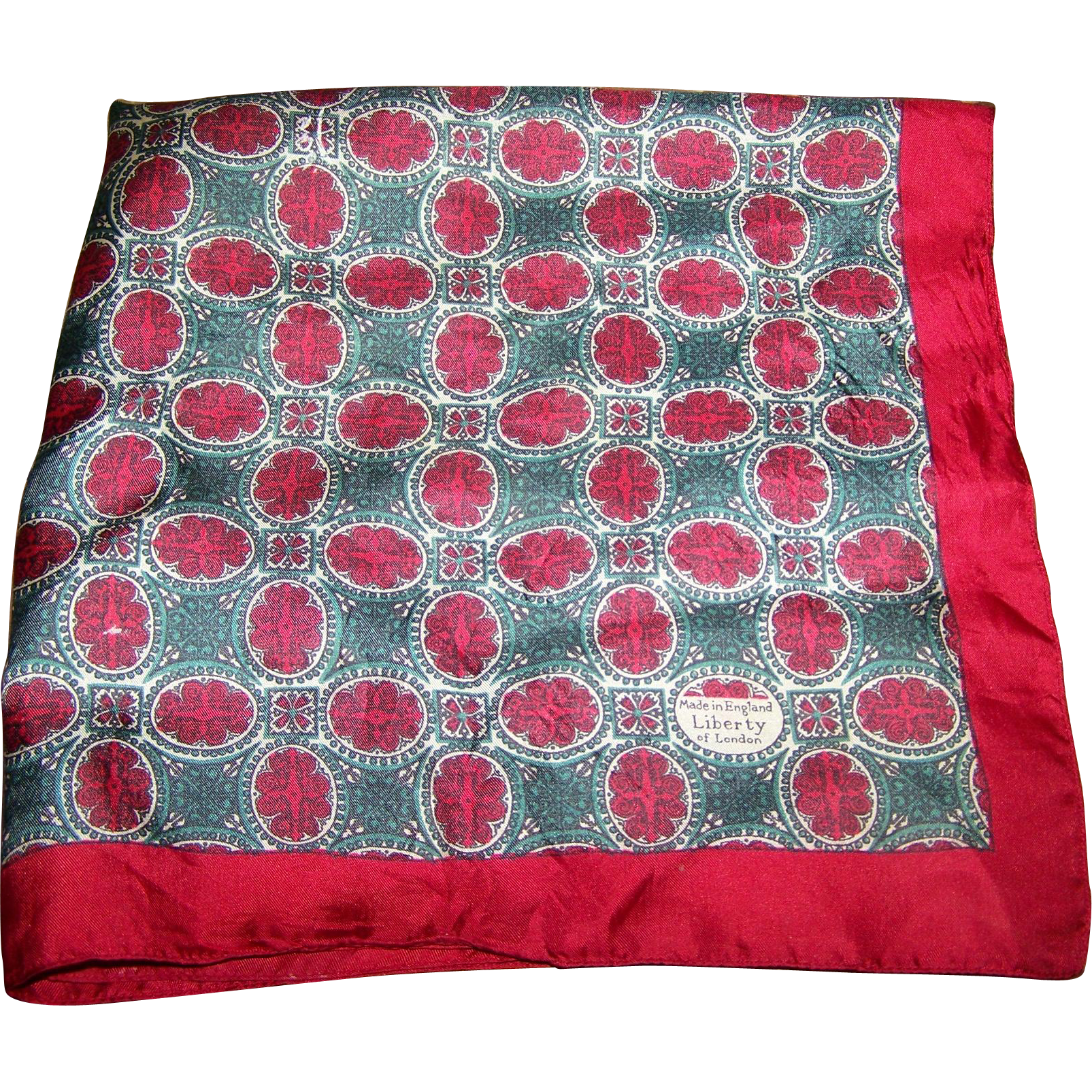 Lovely Vintage Liberty of London Made In England Small Decorative Silk Scarf