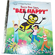 Charming Hard Cover Collectible Children's Book Buzzy Bee Says Bee Happy