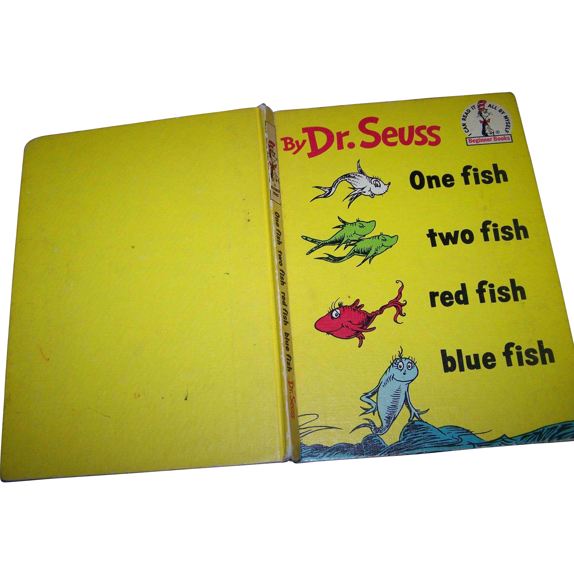 Hard Cover Book by Dr. Seuss One Fish Two Fish Red Fish Blue Fish