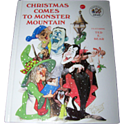 "Charming Vintage Hard Cover Children's Book "" Christmas Comes to Monster Mountain """