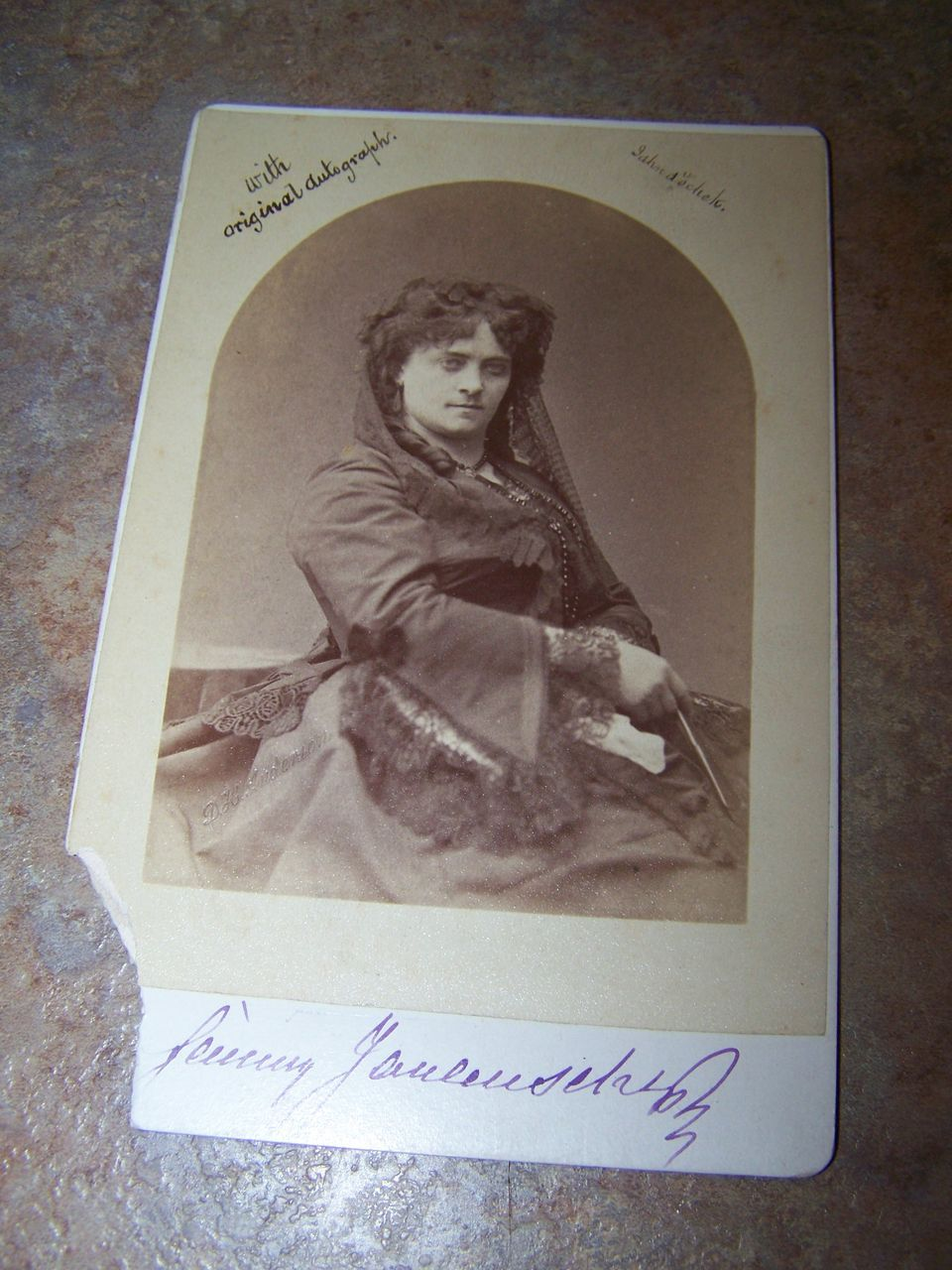A Unique Vintage Portrait Photograph With Original Autograph