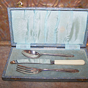 Charming Vintage Utensil Set Engraved Shelley Angora Silver Plate Co.