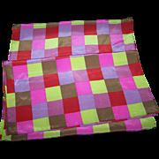 Designer  Charlotte Sparre Denmark Geometic Square Pattern Long Silk Scarf