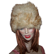 Luxurious Fox Fur Ladies Vintge Fashion Hat Oh SO Warm !