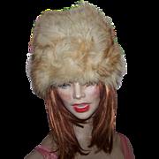 Luxurious Fox Fur Ladies Vintge Fashion Hat Oh SO Warm !
