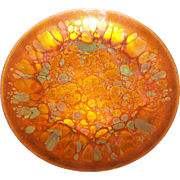 Lovely Mid-Century Modern Abstract Enamel on Copper Decorative 9 1/2 Inch Plate