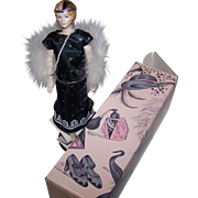 GLORIA Roaring Twenties Flapper Girl Style Bisque Porcelain Doll Circa 1989 Avon Bygone Days