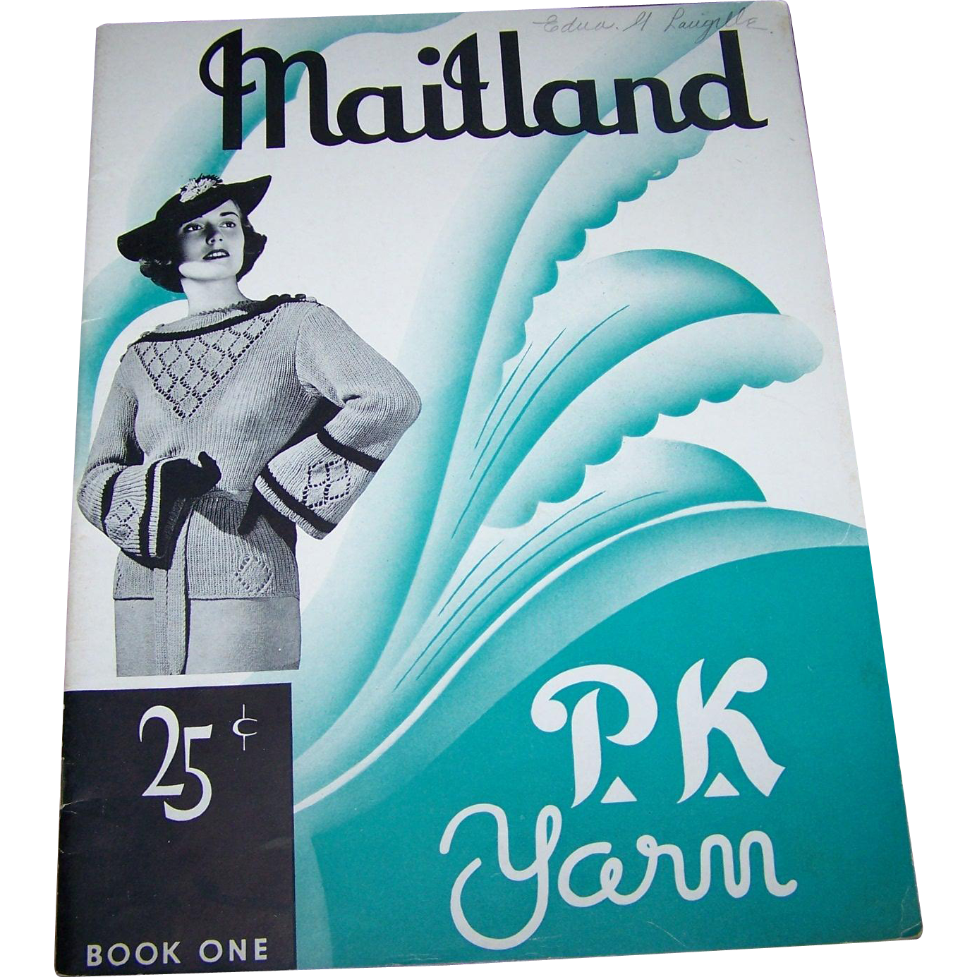 Vintage Collectible Paper Booklet MAITLAND P.K. Yarn Book One