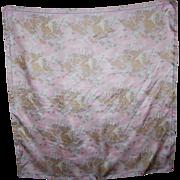 Lovely Small Silk Fashion Scarf with a Bird Marsh Theme
