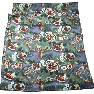 Lovely Long Rectangular Silk Ladies Fashion Scarf Flower Floral Theme Pattern