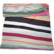 Lovely Long Rectangular Colorful Stripe Ladies  Fashion Scarf