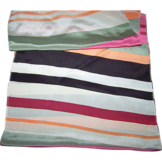 Lovely Long Rectangular Colorful Stripe Ladies  Fashion Scarf