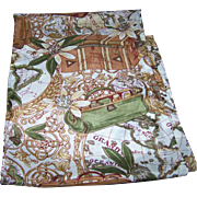 A Fun Gently Used Silk Long Rectangular Souvenir Memento Travel Scarf Grand Oceanie Europe