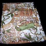 A Fun Gently Used Silk Long Rectangular Souvenir Memento Travel Scarf Grand Oceanie Europe