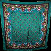 A Pretty Vine Floral Pattern Ladies Fashion Scarf Wearable  ART