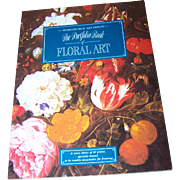 Soft Cover Book Booklet The Portfolio Book of Floral Art  with Removable Prints