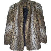 Designer Jacques Saint Laurent For Genelle Paris New York Faux Spotted Wild Cat Lynx  Jacket