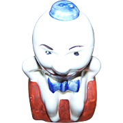 A Little Figural Humpty Dumpty Sat On The Wall Pottery Spice Shaker