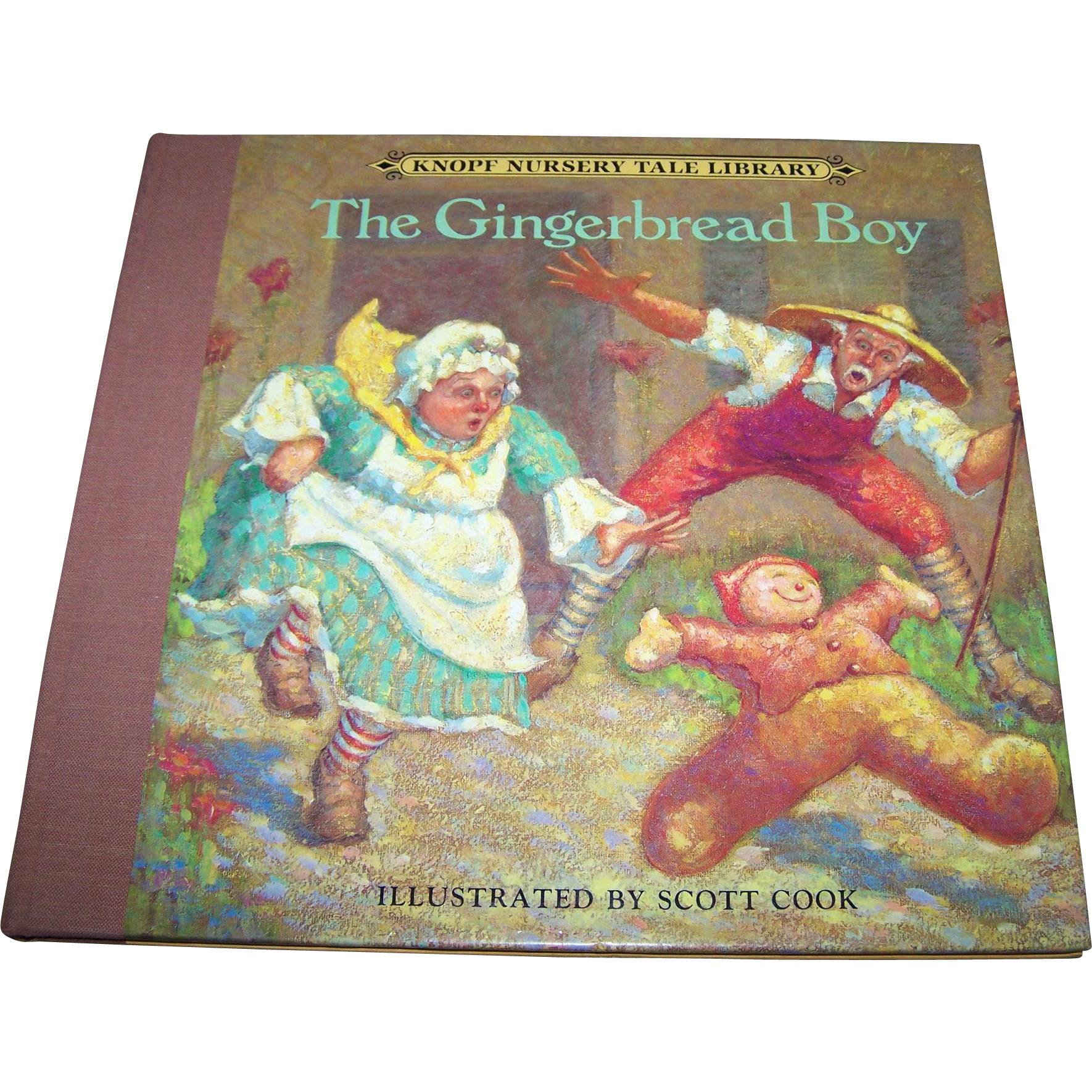 The Gingerbread Boy Knopf  Nursery Tale Library CHildren's Book Illustrated