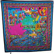 Colorful Fresca Sydney Souvenir Scarf Signed bec pierce Australia