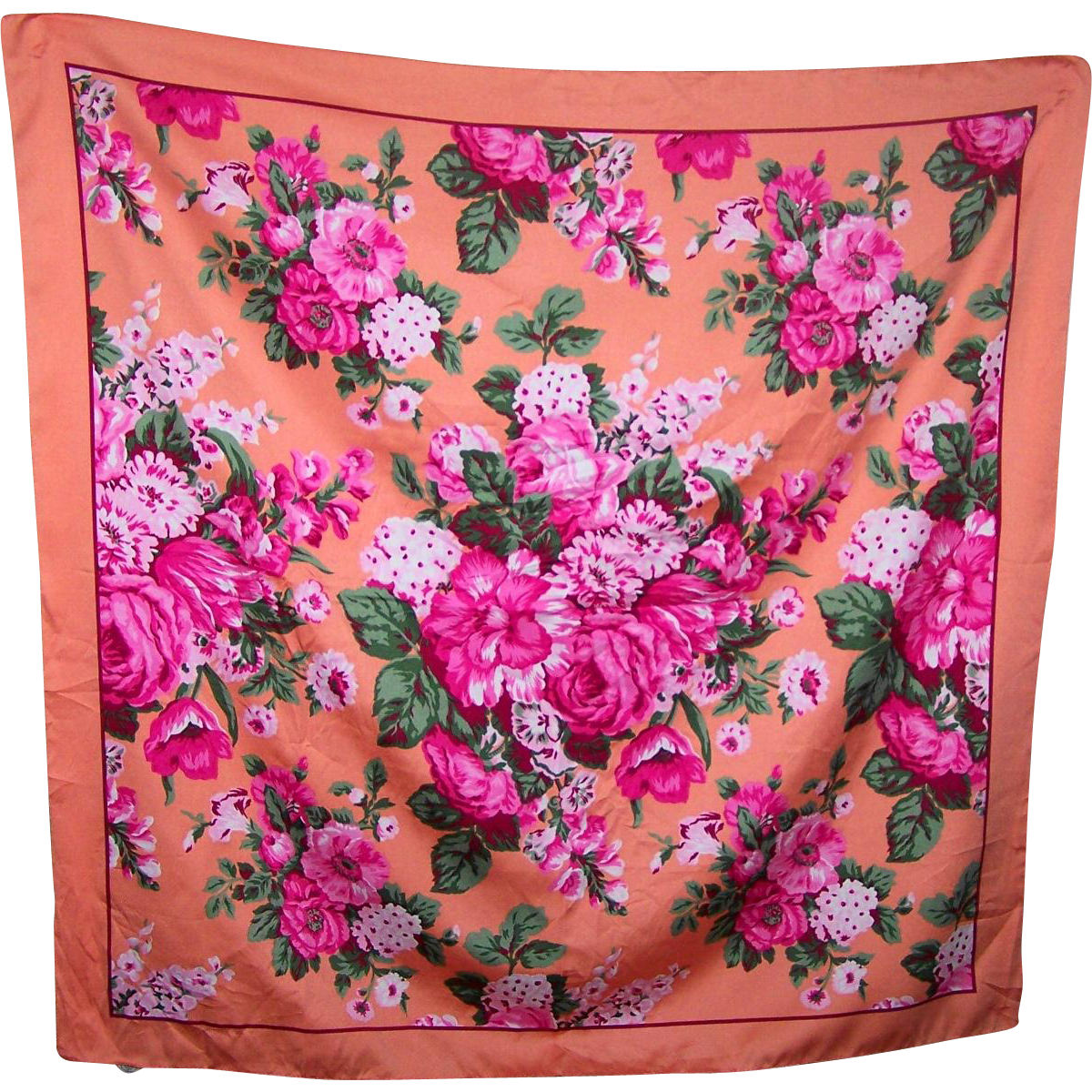 The Prettiest Scarf For Your Collection Richly Patterned With A Romantic  Flower Theme
