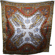 A Decorative Paisley Acetate Fashion Scarf Tag States R.J. Singer INTL. Westlake Village CA
