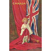 Vintage Souvenir Paper Postcard Post Card Featuring CANADA