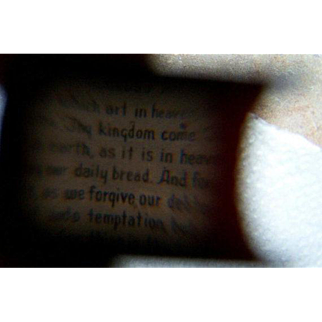 A Vintage Small Stanhope Style BIBLE Featuring The Lord's Prayer