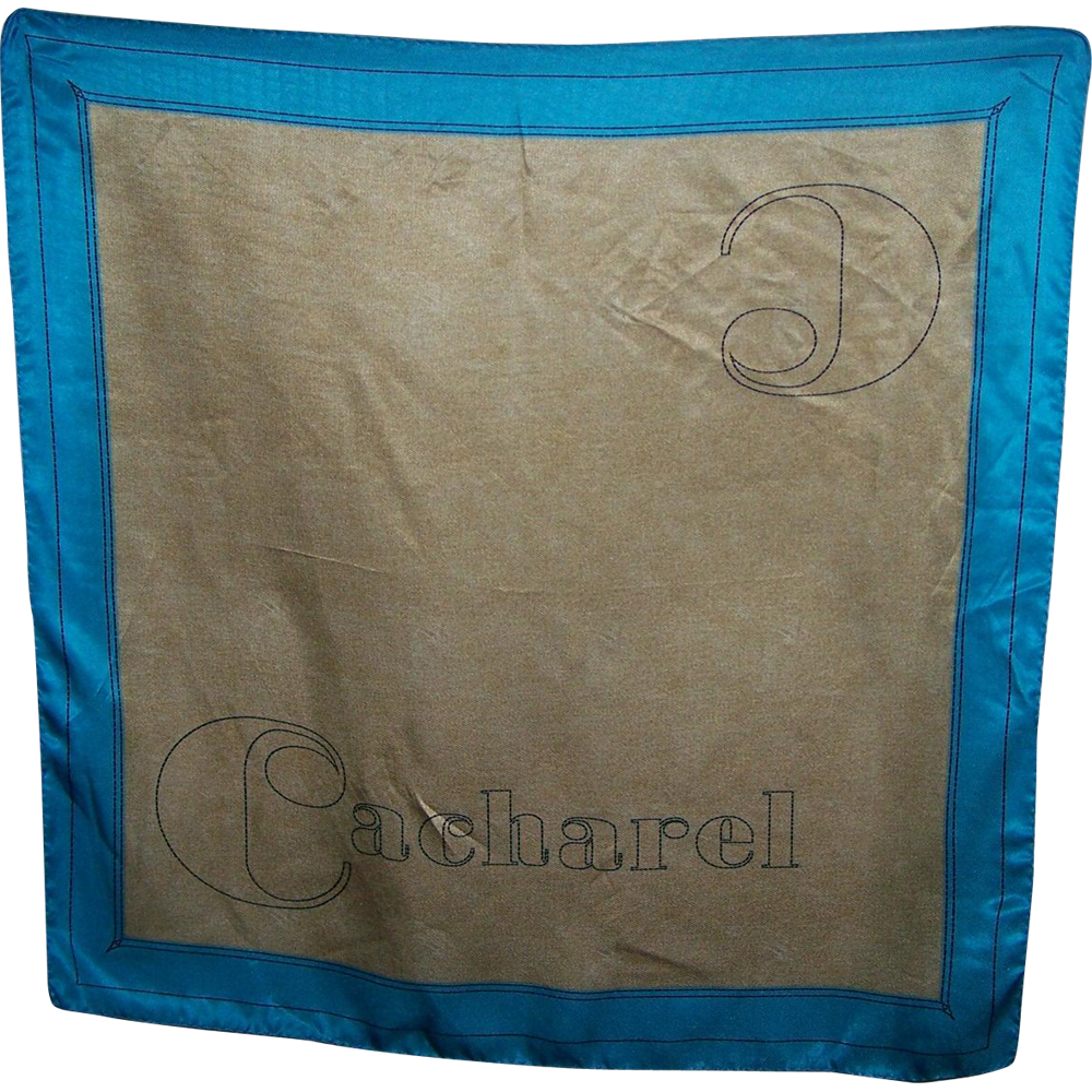 Lovely Large Advertising Scarf for CACHAREL