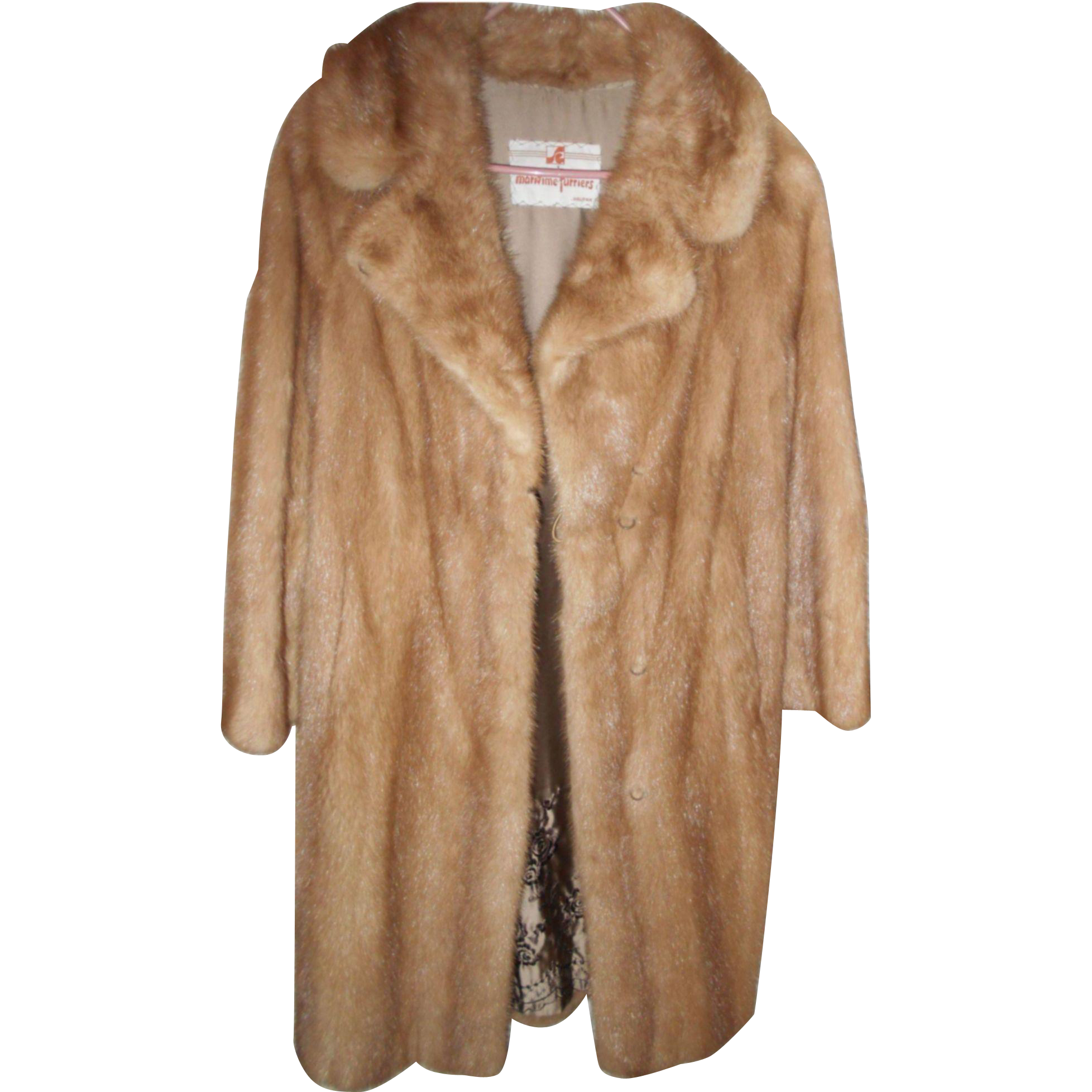Stunning Vintage Mink Coat with Decorative Embroidered Lining ...