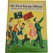 My First Stamp Album the Ideal Album for the Beginning Collector Hard Cover Children's Book