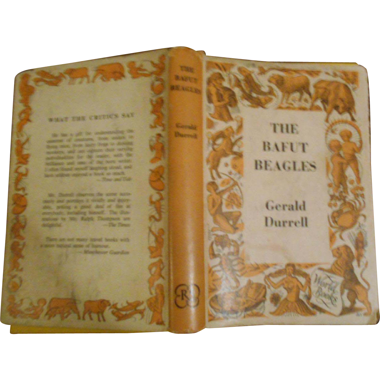 Vintage Children's Hard Cover Book The Bafut Beagles by Gerald Durrell