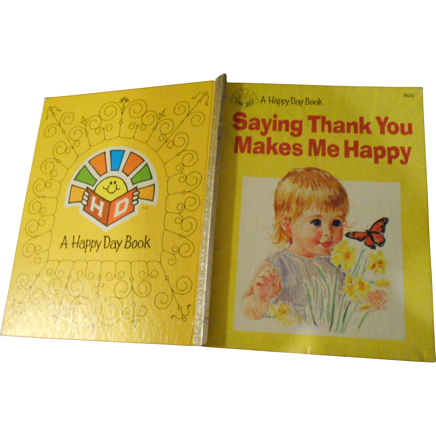 """Sweet Vintage Hard Cover Children's Book """" Saying Thank You Makes Me Happy """""""
