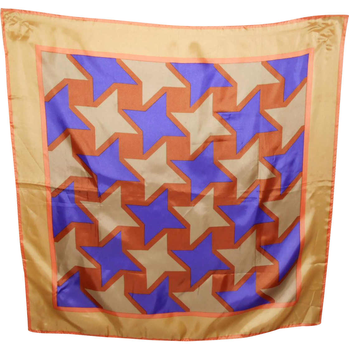 A Great Op Art Waterproof Polyester Fashion Scarf Wearable  or Framable ART