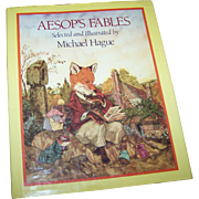 "Lovely Vintage Hard Cover Book "" AESOP'S FABLES "" Selected and Illustrated by Michael Hague"