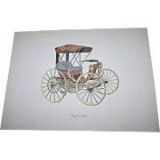 6 Vintage Promotional Advertising Paper Prints From ESSO Featuring Vintage Antique Automobiles  Cars